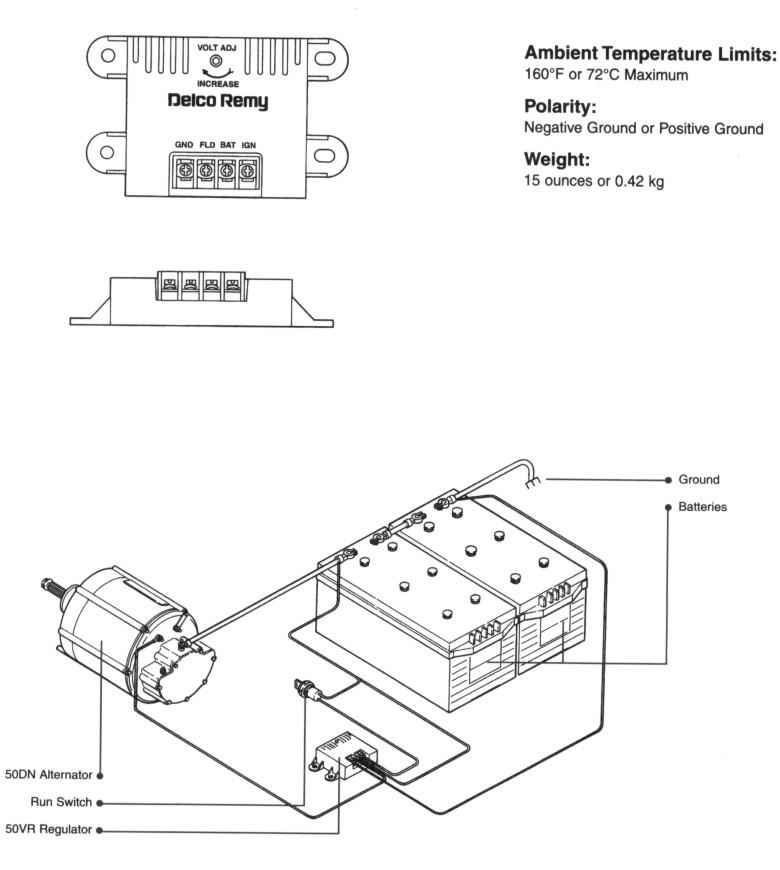 Alternator Regulator Remy 10503805