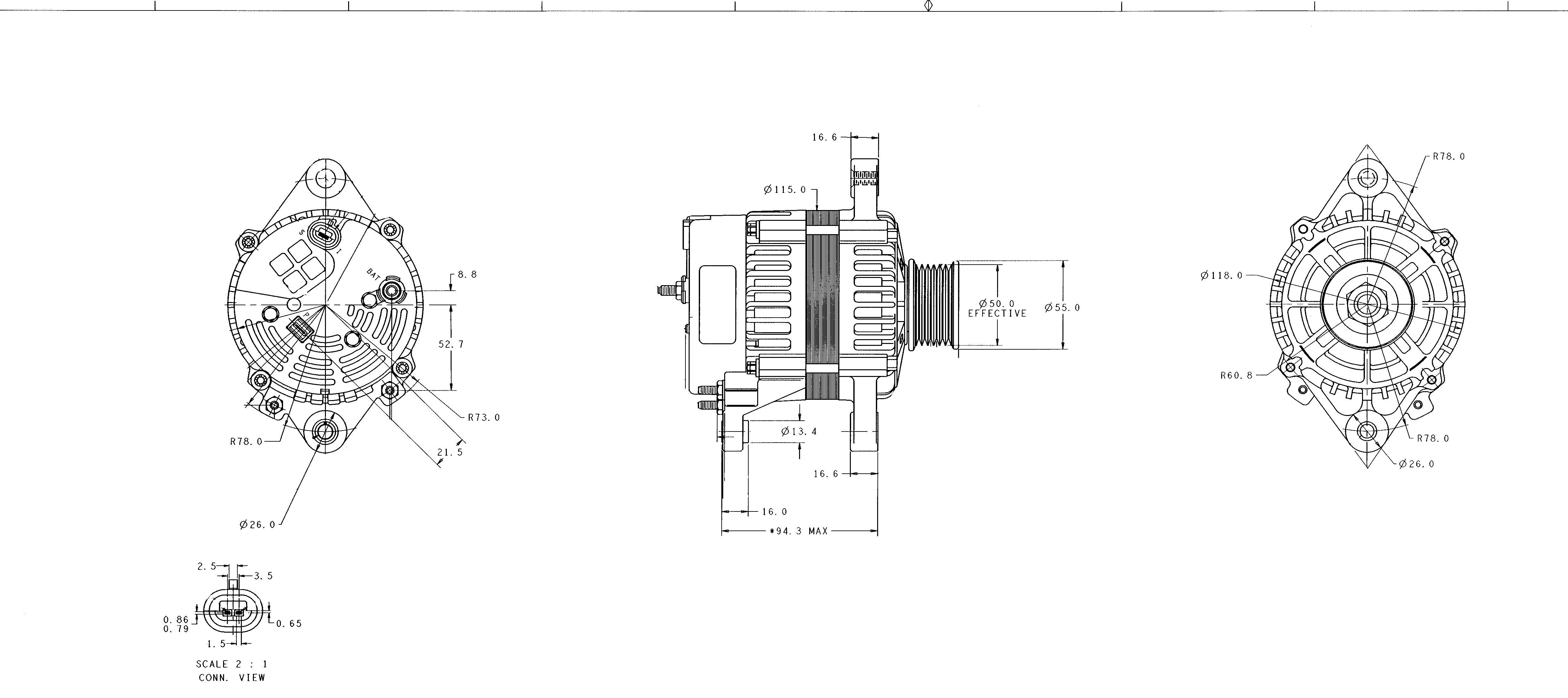dre19020612 alternator delco