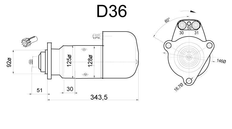 dre19024130 starter delco