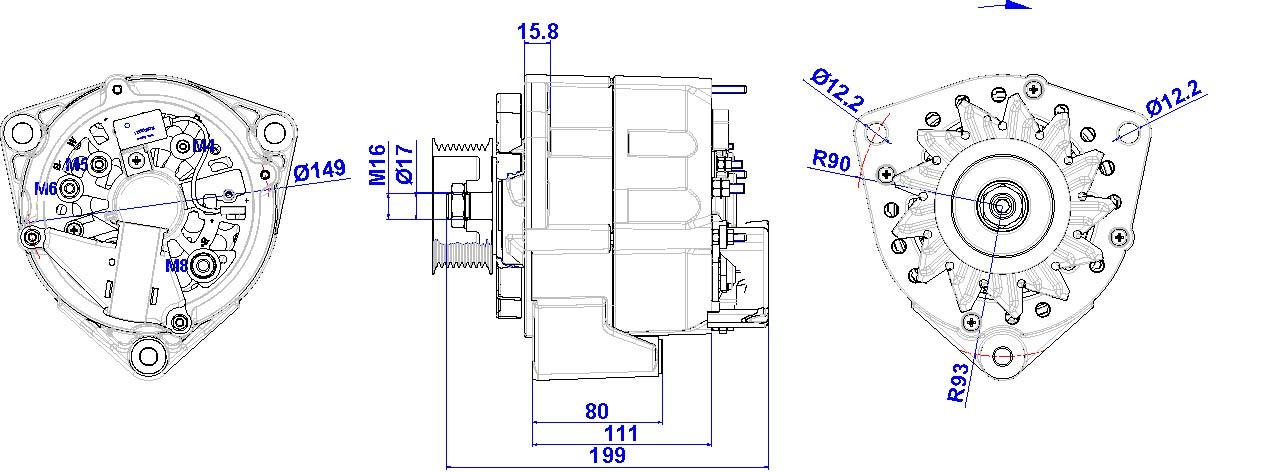 Ziemlich Delco Lichtmaschine Schaltplan Bilder - Elektrische ...