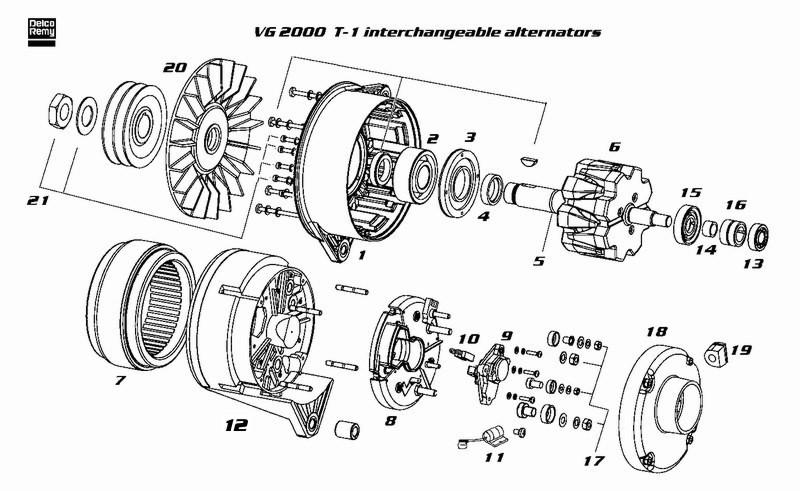 dre19025330 alternator delco