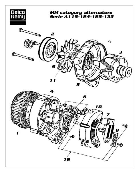 Dre19025801 Parts Delco Remy Deer Online Com Alternator Starter Battery